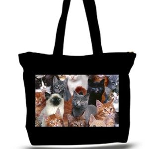 KIttens Cats Photo Collage Grocery Tote Bag XXXL